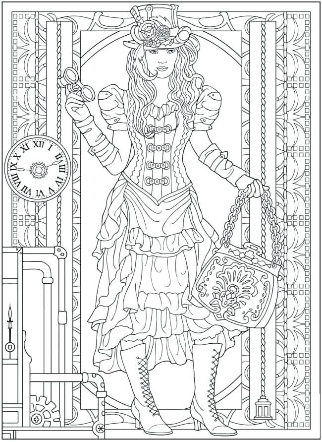 Creative Haven Coloring Books Creative Haven Coloring Books Fresh Creative Haven Coloring Pages Pintere Steampunk Coloring Fashion Coloring Book Coloring Pages