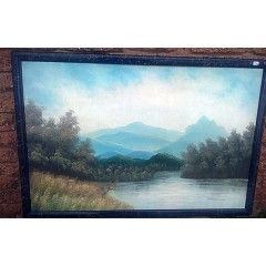 Awesome Landscape Oil Painting by Joe Sherman on Canvas & Board. 94.5 cm x 64.5 cm