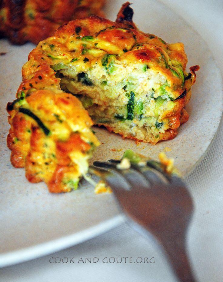 Flan aux courgettes et fromage frais