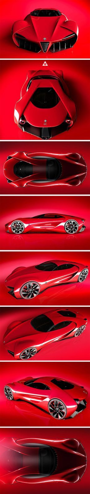 For all its aggressiveness, the Alfa Romeo Disco Volante concept by Alex Imnadze also has a delicate femininity to it. Makes perfect sense considering its flowing form was inspired by the natural curves of a woman's body!