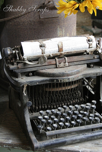 Vintage Nostalgia...old typewriter...