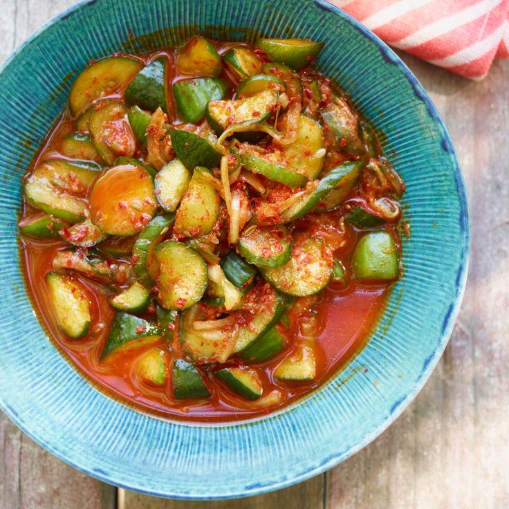 Quick Cucumber Kimchi Recipe Recipe Kimchi Recipe Cucumber Kimchi Cucumber Recipes