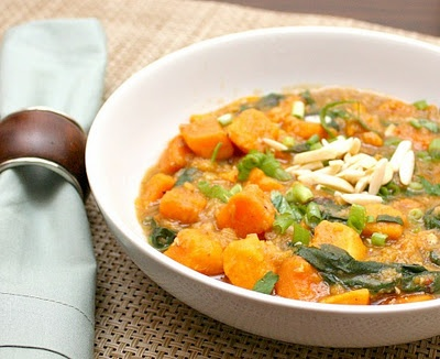Curried Lentils & Sweet Potatoes. Intriguing - I'm game for giving it...
