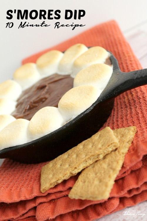 Chocolate S'mores Dip Recipe! Easy Dessert Recipe in 10 Minutes!