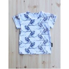 Lintu - Childrens T-shirt (cotton/elastane, made in Finland all the way from weaving! :) )