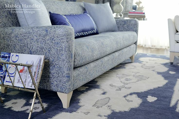 Kravet Pepperdine Sofa, Interior Design by Mabley Handler Interior Design for Hamptons Showhouse 2013