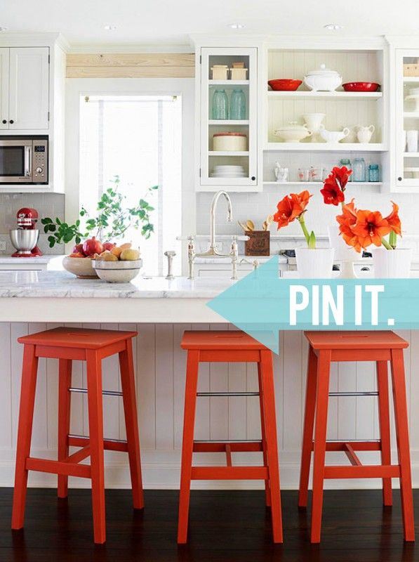 First things first, how gorgeous is this kitchen? I seriously don't even know where to begin. An all-white kitchen is always a winner in my book, and this one is no exception. The white cabinetry has the ideal mix of open and closed storage space. Those white marble countertops paired with that gorgeous faucet [...]
