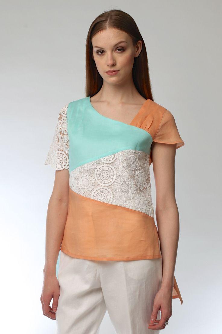 Linen & Lace Top Style # 1778