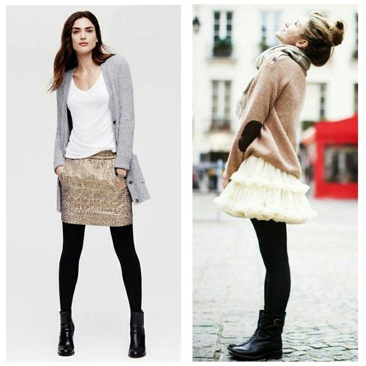 #Черные матовые непрозрачные #колготки – наше осеннее спасение. В них тепло, они не добавляют ногам объема (ключевое слово тут – матовые) и они универсальны. Их можно носить с чем угодно, хоть со светлыми юбками и платьями. Многие сомневаются – можно ли. Мы сегодня развеиваем сомнения. Можно! И очень красиво.  #StellaClar #fashion #мода #стиль