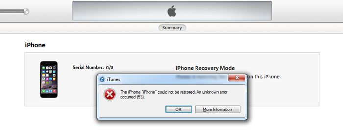 How to fix your bricked iPhone due to Error 53