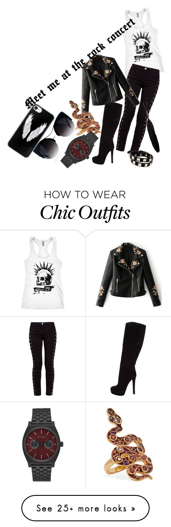 """""""Meet me at the rock concert"""" by kass-bayer on Polyvore featuring WithChic, Gucci, Diego Percossi Papi, Valentino and Casetify"""