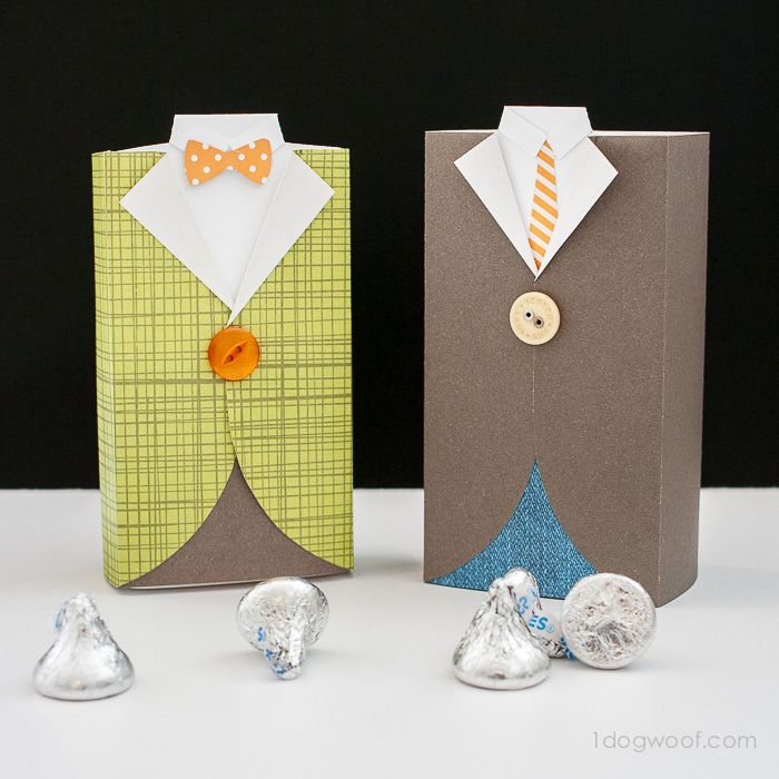 Men's Suit Gift Box and Treat Holder via @1dogwoof