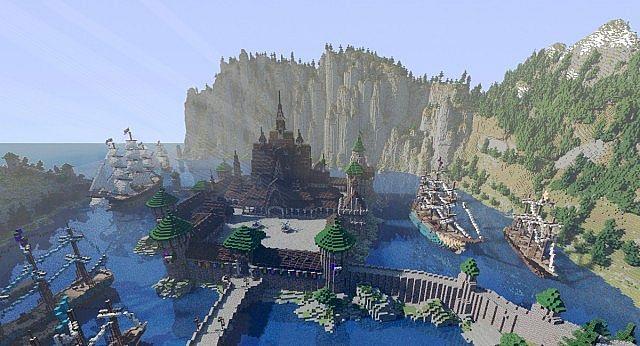 Minecraft Frozen - Arendelle in spring