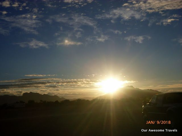Our Awesome Travels: Sunrise to sunset with wind and rain in between, n...