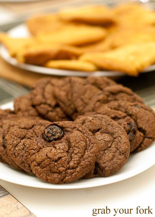 Dark chocolate and sour cherry cookies | Cookies | Pinterest