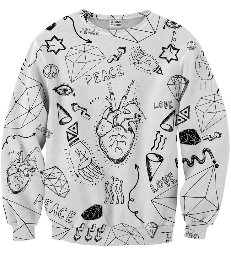 Love icons sweater, Mr. GUGU & Miss GO