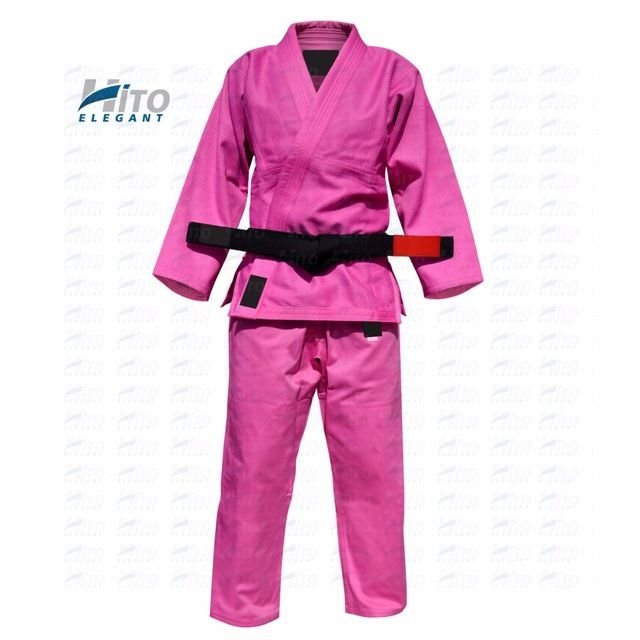Source Hito Elegant 100% cotton bjj brazilian jiu jitsu gi kimonos uniforms suits in pink HE-BJJ-0004 on m.alibaba.com