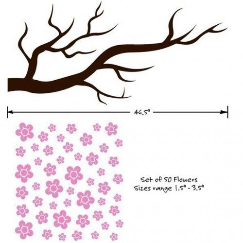 how to draw a cherry blossom tree branch
