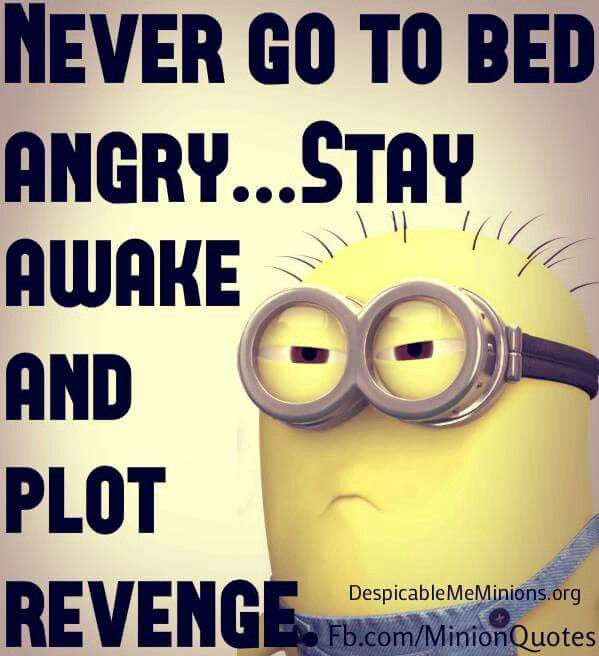 Minion, bed, angry, revenge. See my Minions pins https://www.pinterest.com/search/my_pins/?q=minions