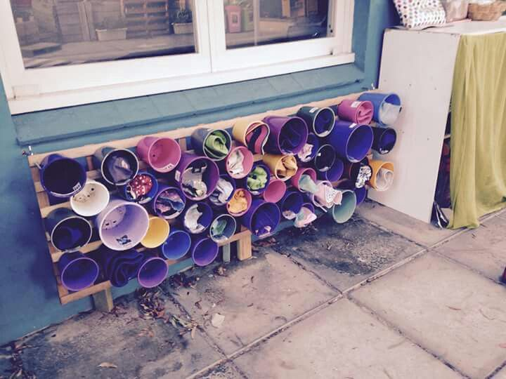 62 best images about sustainability ideas for childcare for Hat storage ideas