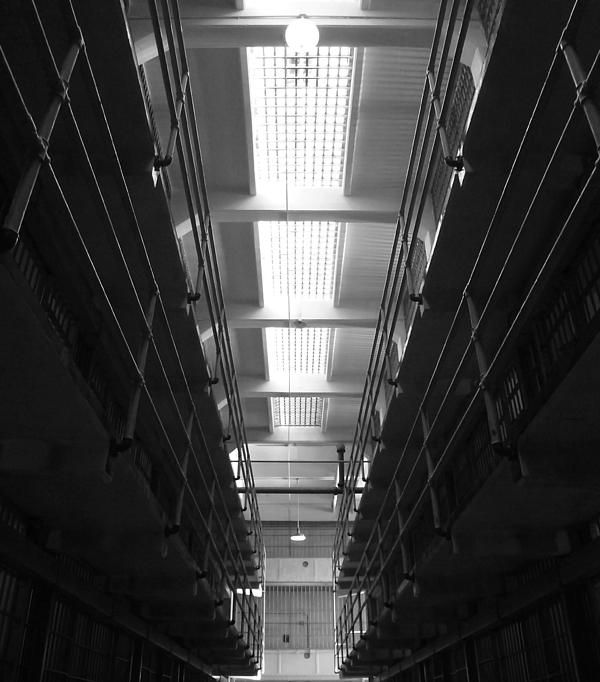 One of the cell block corridors inside of Alcatraz prison. Want this picture printed on canvas or cards etc? Click on the image :)