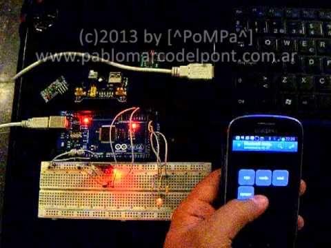 Control de LEDs por Bluetooth (Arduino + Android) - Hoy recibí el módulo Bluetooth y armé un sencillo proyecto para probar su funcionamiento. Consiste en controlar un LED RGB mediante la transmisión de comandos vía Bluetooth.