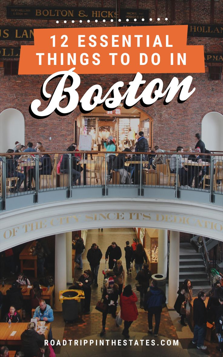 12 essential things to do in Boston! Click through for our city guide on Road Trippin' The States