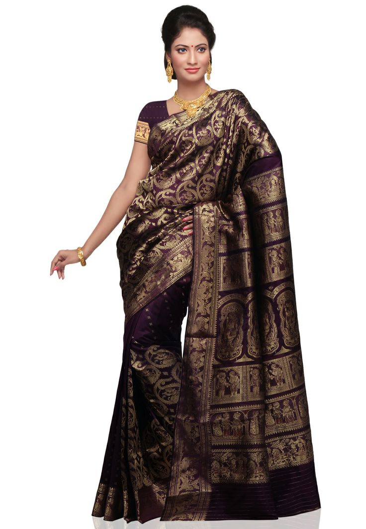Dark purple saree for wedding.. ?
