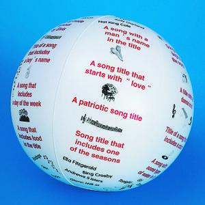 TOSS 'N TALK-ABOUT MUSIC BALL... Who wants to buy Mrs. Odeen a present?!