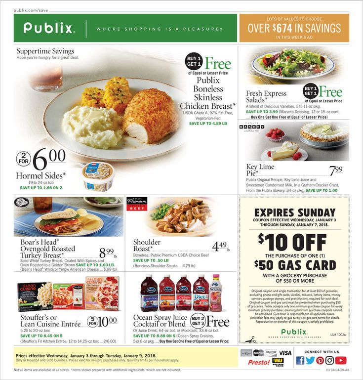 Publix Weekly Ad January 3 - 9, 2018 - http://www.olcatalog.com/grocery/publix-weekly-ad.html