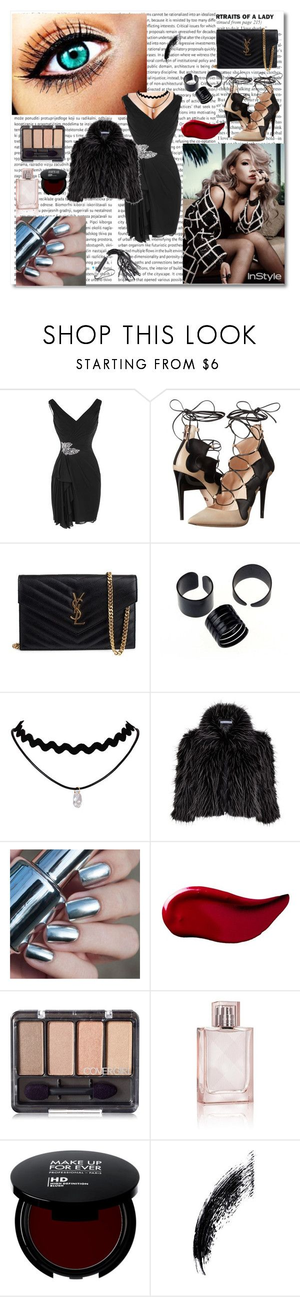 """TOO HOT FOR YOU BABY <3"" by stayhappy16 ❤ liked on Polyvore featuring Ruthie Davis, Yves Saint Laurent, Gina Bacconi, Kat Von D and Burberry"