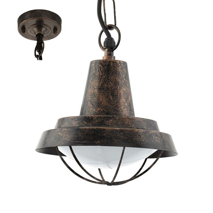 Eglo Outdoor Lampa Wisząca Colindres 94837 : Lampy wiszące zewnętrzne klasyczne : Sklep internetowy Elektromag Lighting #copper #lap #outdoor