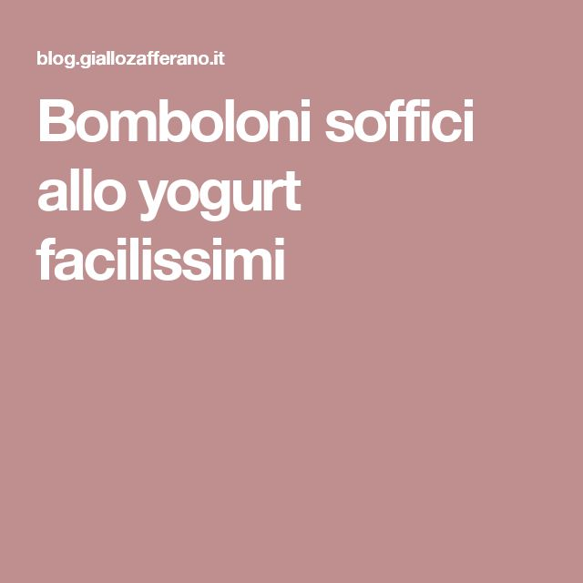 Bomboloni soffici allo yogurt facilissimi