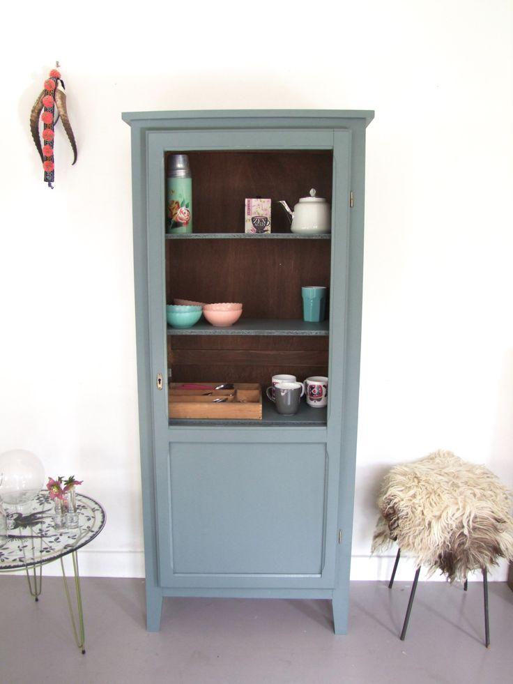 Armoire parisienne vitr e pataluna pinterest meubles - Relooking meuble vintage ...
