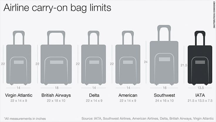 Airlines could shrink carry-on bag size...