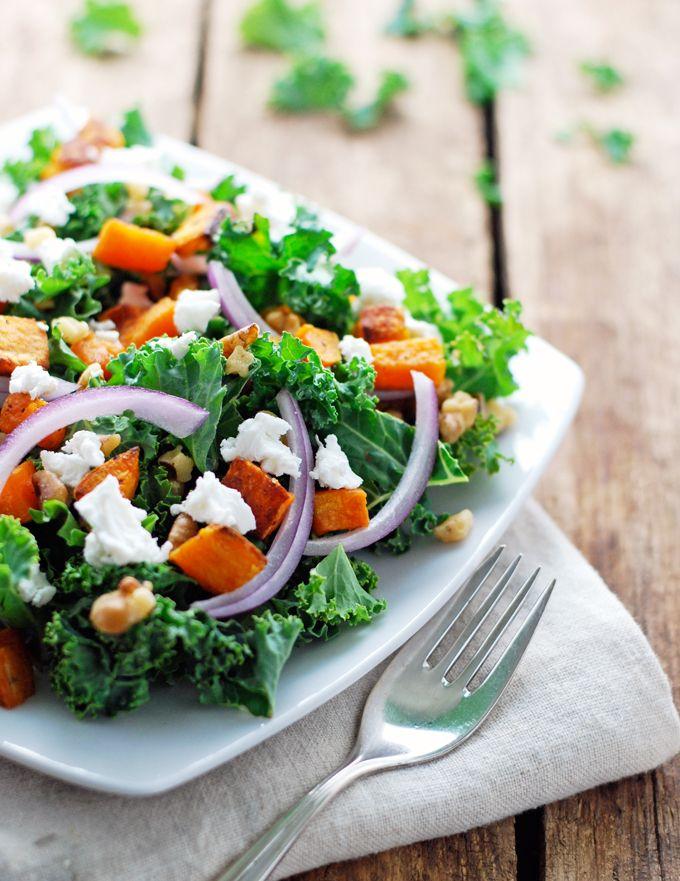 ... Sweet Potato and Kale Salad | Recipe | Kale, Fall salad and Sweet