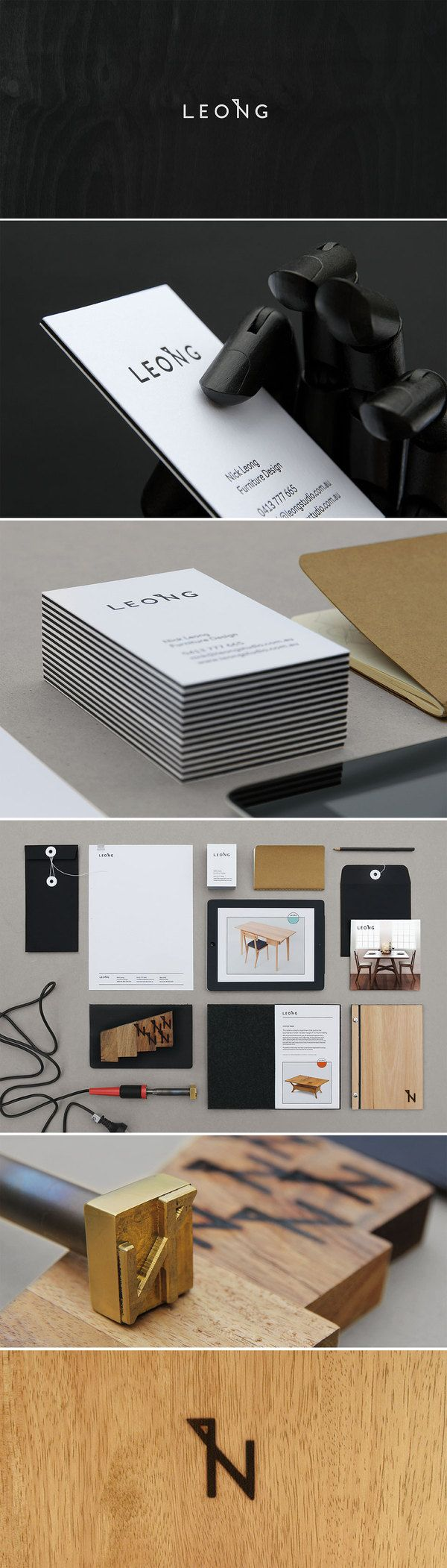 Furniture company corporate identity and logo design. I love how it includes both a print stationary suite and a branding logo for the furniture.