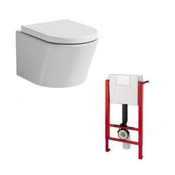 elena wall hung toilet including seat
