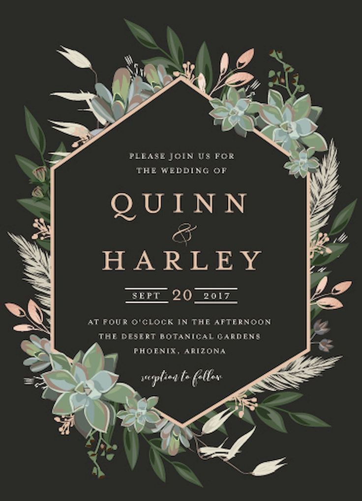 Nice 34 Beautiful Floral Wedding Invitation Ideas https://bitecloth.com/2017/07/18/34-beautiful-floral-wedding-invitation-ideas/