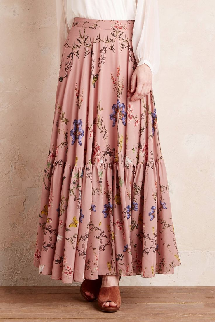 Aquitaine Floral Maxi Skirt | clothes | Skirt outfits ...