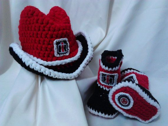 International Harvester inspired Baby Cowboy Hat and Booties