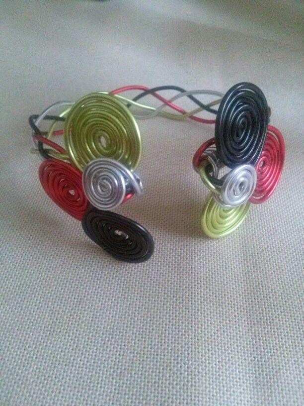 Alluminioum bracelet.