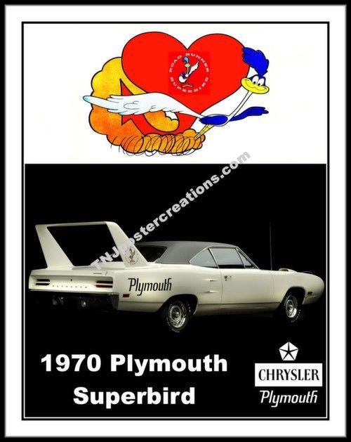 1970 Plymouth Road Runner Superbird Promotional Poster - Mopar Muscle Car.