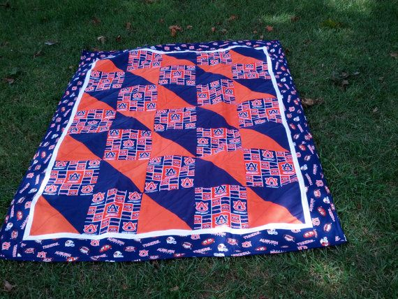 Auburn Game Day Quilt in Multi by NeNesQuilts on Etsy