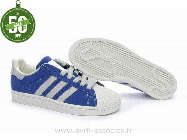 Adidas Superstar soldes bleu