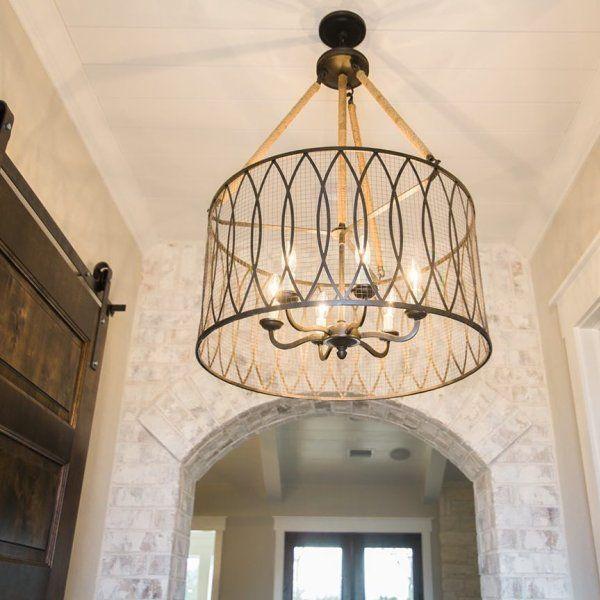 Denley Pendant Chandelier Large High Ceilings Foyer Lighting Fixtures Modern Chandeliers