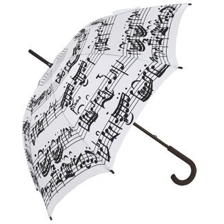 """So imagine if u were underneath this umbrella and the rain was bouncing off it so that it sounded like different notes and u were like """"OMG this umbrella is even more musical than meets the eye """" that wld b wierd"""