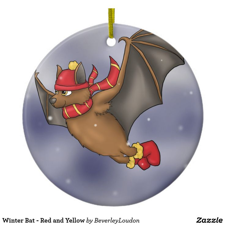 Winter Bat - Red and Yellow