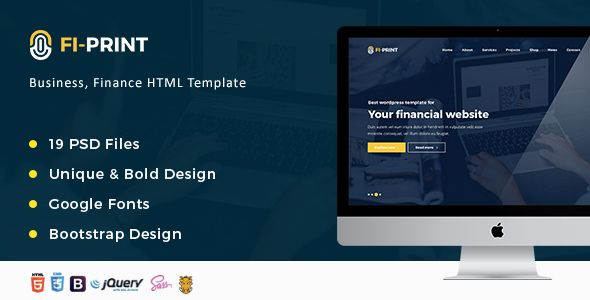 Fi-Print – Business, Finance Corporate Consulting HTML Template  - Business Corporate Template. Download here: https://themeforest.net/item/fiprint-business-finance-accountant-corporate-html-template-/16564133?s_rank=23&ref=yinkira