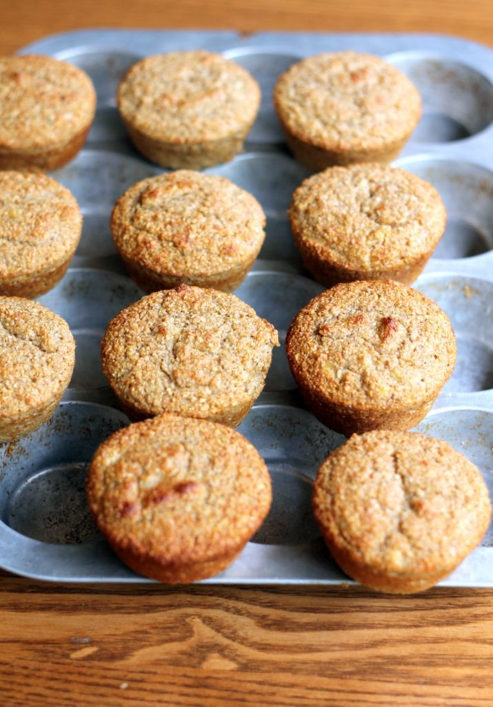Banana Oat Protein Muffins {no flour or sugar added, 100 calories} I love these -no flour and no added sugar... a guiltless muffin:)  from my friend Monique at Ambitious Kitchen